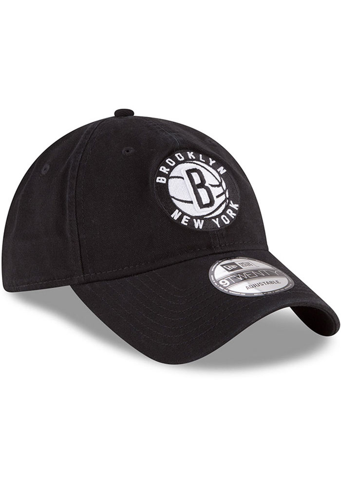 New Era Brooklyn Nets Core Classic 9TWENTY Adjustable Hat - Black - Image 2