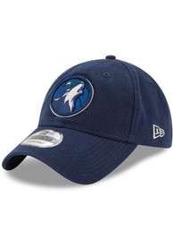 Minnesota Timberwolves New Era Core Classic 9TWENTY Adjustable Hat - Navy Blue