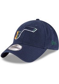New Era Utah Jazz Core Classic 9TWENTY Adjustable Hat - Navy Blue