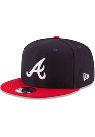 Atlanta Braves New Era Basic 9FIFTY Snapback - Navy Blue