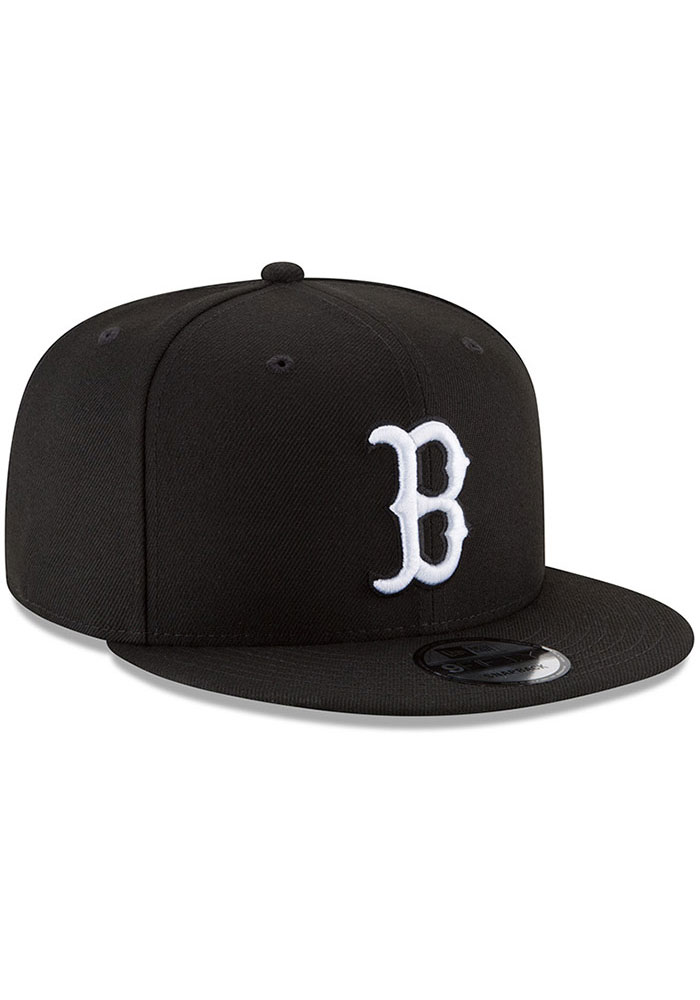 latest discount best shoes high fashion New Era Boston Red Sox Black Basic 9FIFTY Mens Snapback Hat - 59001764