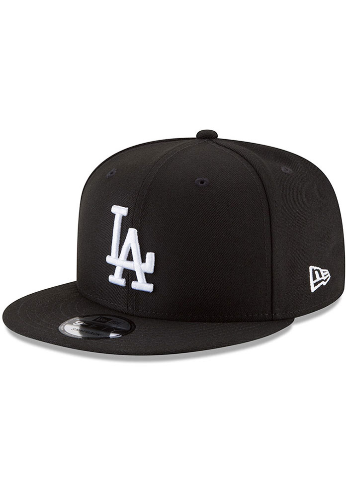 New Era Los Angeles Dodgers Black Basic 9FIFTY Mens Snapback Hat - Image 1