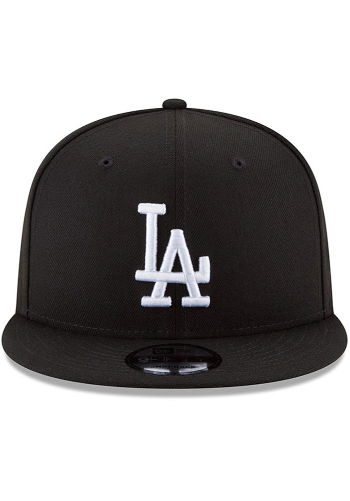 New Era Los Angeles Dodgers Black Basic 9FIFTY Mens Snapback Hat - Image 2