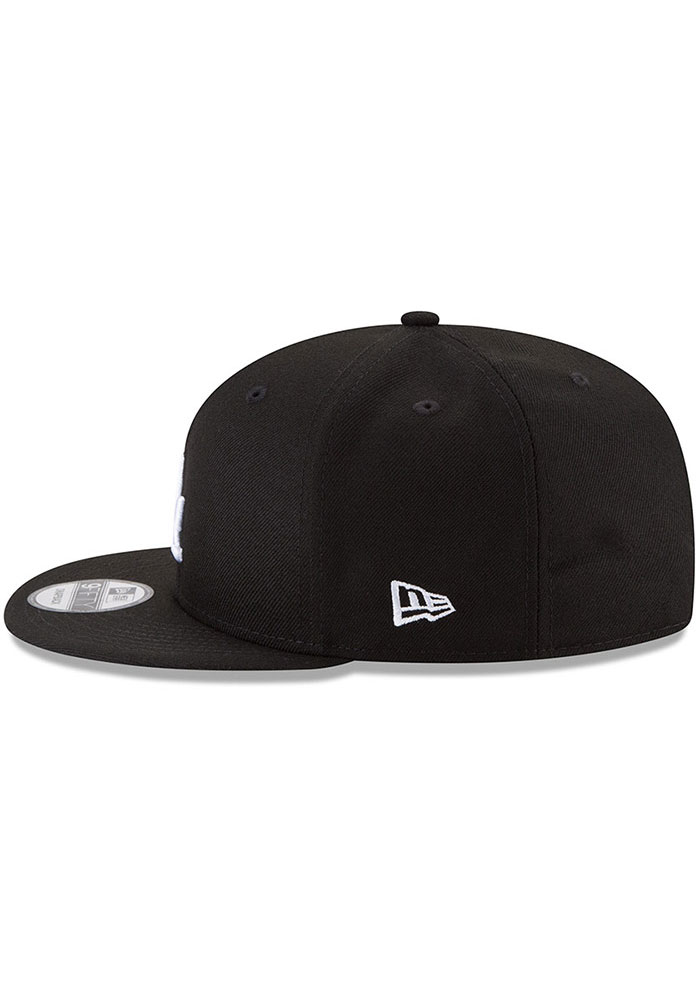 New Era Los Angeles Dodgers Black Basic 9FIFTY Mens Snapback Hat - Image 3