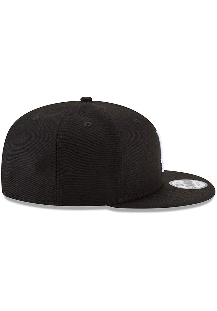 New Era Los Angeles Dodgers Black Basic 9FIFTY Mens Snapback Hat - Image 5