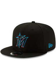 Miami Marlins New Era Basic 9FIFTY Snapback - Black