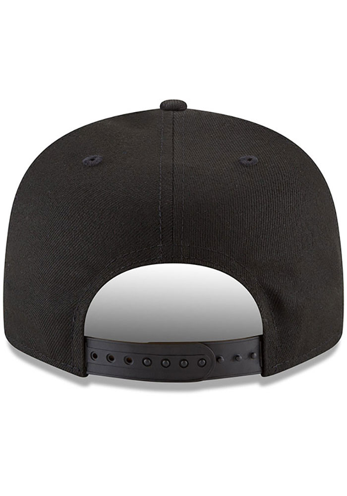 New Era Miami Marlins Black Basic 9FIFTY Mens Snapback Hat - Image 5