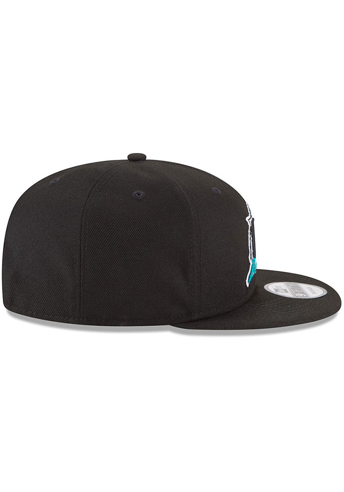 New Era Miami Marlins Black Basic 9FIFTY Mens Snapback Hat - Image 6