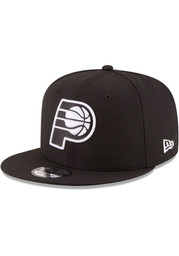 New Era Indiana Pacers Black 9FIFTY Mens Snapback Hat