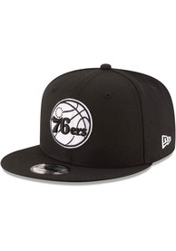 Philadelphia 76ers New Era 9FIFTY Snapback - Black