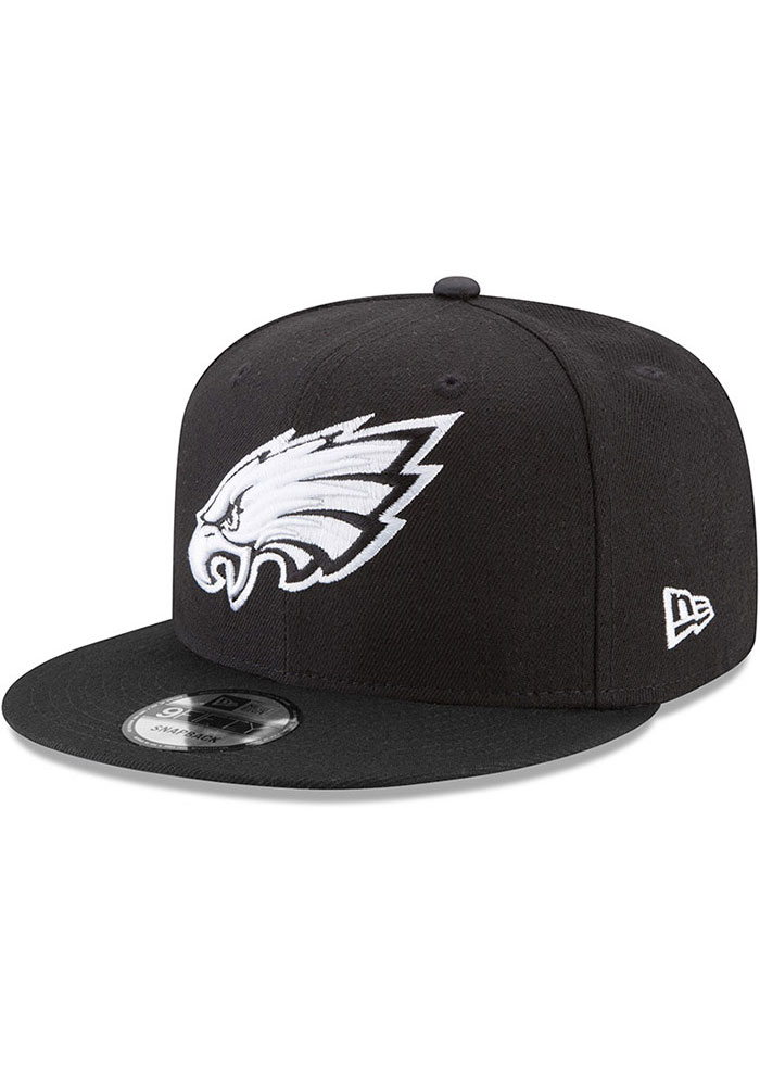 New Era Philadelphia Eagles Black Basic 9FIFTY Mens Snapback Hat - Image 1