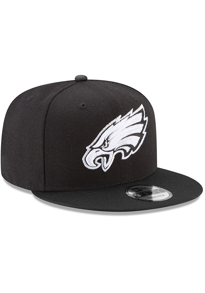 New Era Philadelphia Eagles Black Basic 9FIFTY Mens Snapback Hat - Image 2