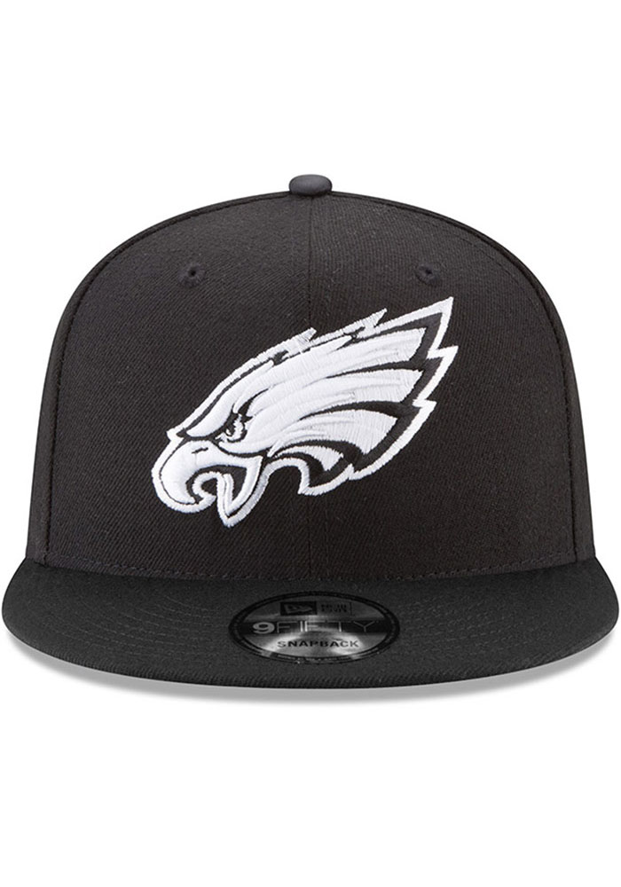 New Era Philadelphia Eagles Black Basic 9FIFTY Mens Snapback Hat - Image 3