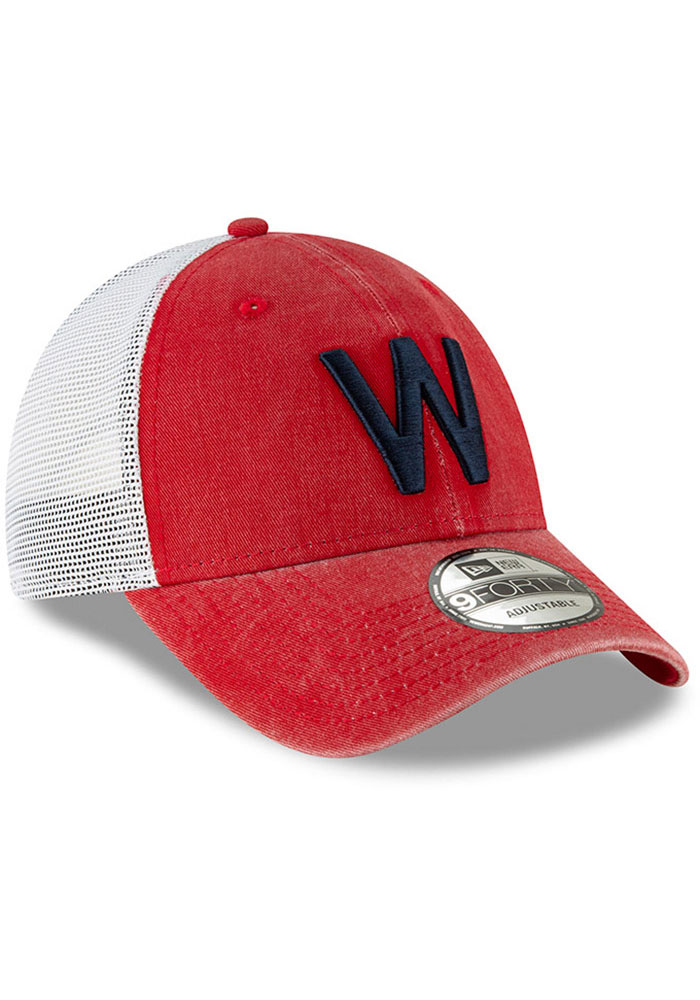 New Era Washington Nationals Cooperstown Trucker 9FORTY Adjustable Hat - Red - Image 2