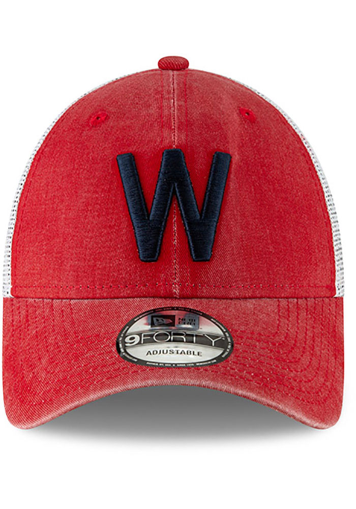New Era Washington Nationals Cooperstown Trucker 9FORTY Adjustable Hat - Red - Image 3