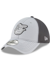 Baltimore Orioles New Era Grayed Out Neo 39THIRTY Flex Hat - Grey