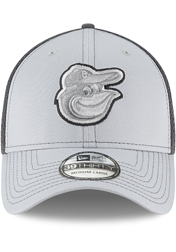New Era Baltimore Orioles Mens Grey Grayed Out Neo 39THIRTY Flex Hat - Image 3