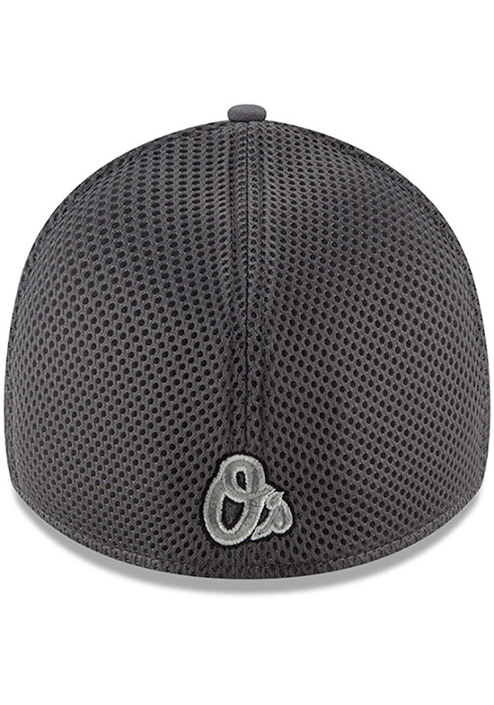New Era Baltimore Orioles Mens Grey Grayed Out Neo 39THIRTY Flex Hat - Image 5