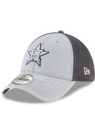 Houston Astros New Era Grayed Out Neo 39THIRTY Flex Hat - Grey