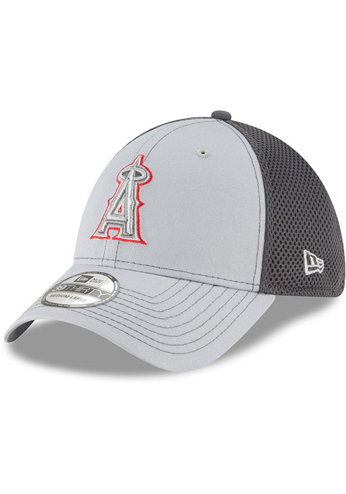 New Era Los Angeles Angels Mens Grey Grayed Out Neo 39THIRTY Flex Hat - Image 1