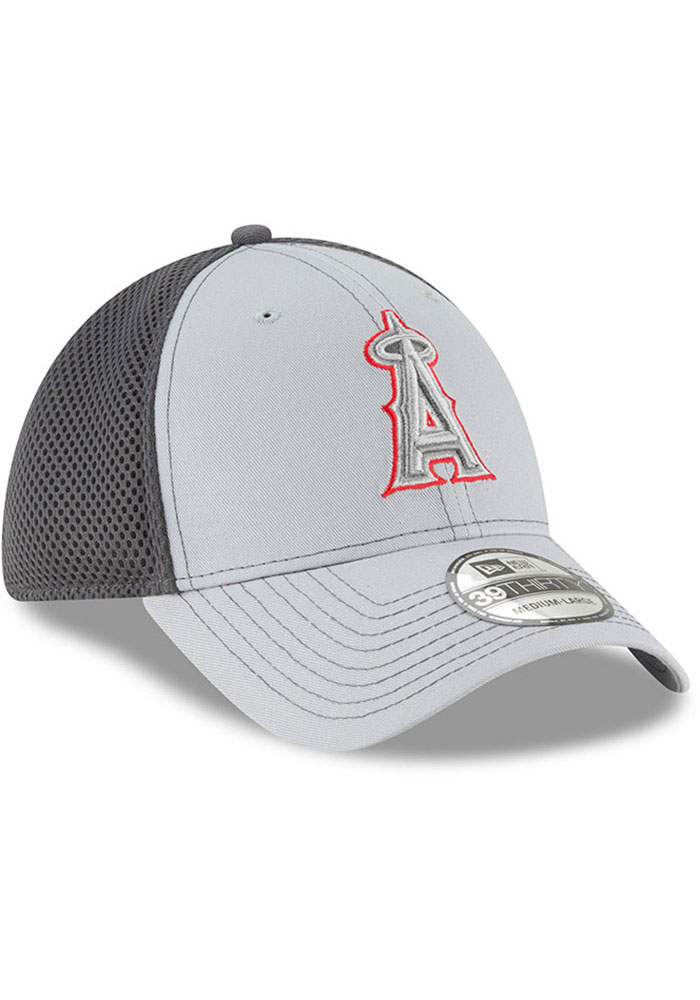 New Era Los Angeles Angels Mens Grey Grayed Out Neo 39THIRTY Flex Hat - Image 2
