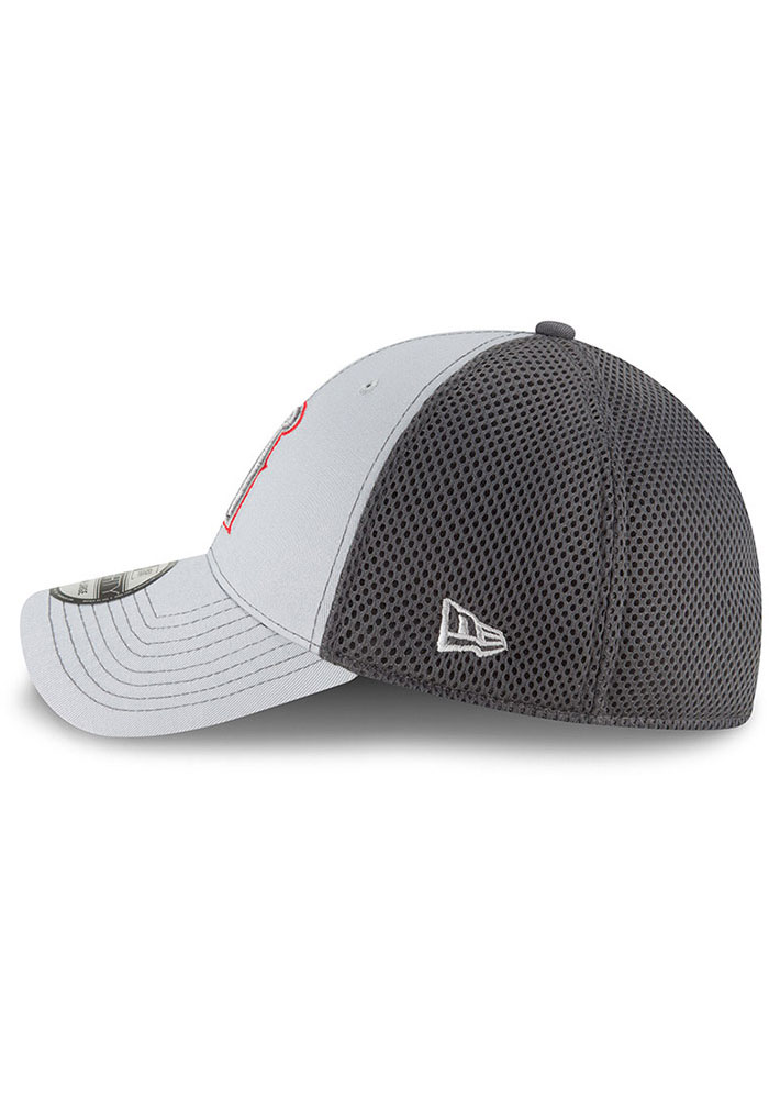 New Era Los Angeles Angels Mens Grey Grayed Out Neo 39THIRTY Flex Hat - Image 4