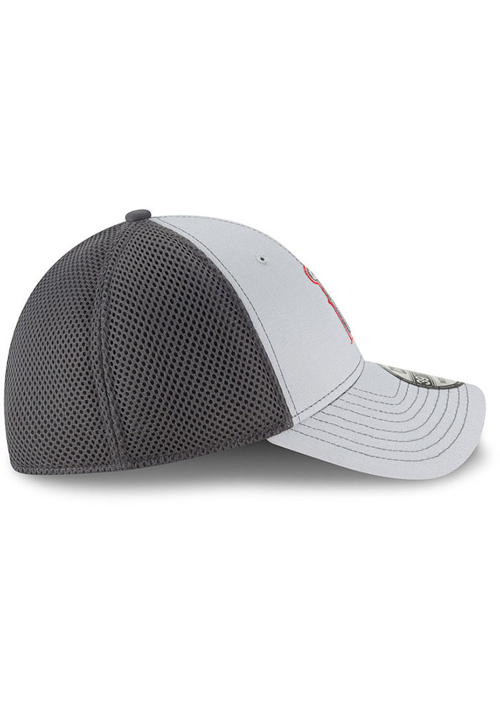 New Era Los Angeles Angels Mens Grey Grayed Out Neo 39THIRTY Flex Hat - Image 6