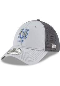 New York Mets New Era Grayed Out Neo 39THIRTY Flex Hat - Grey