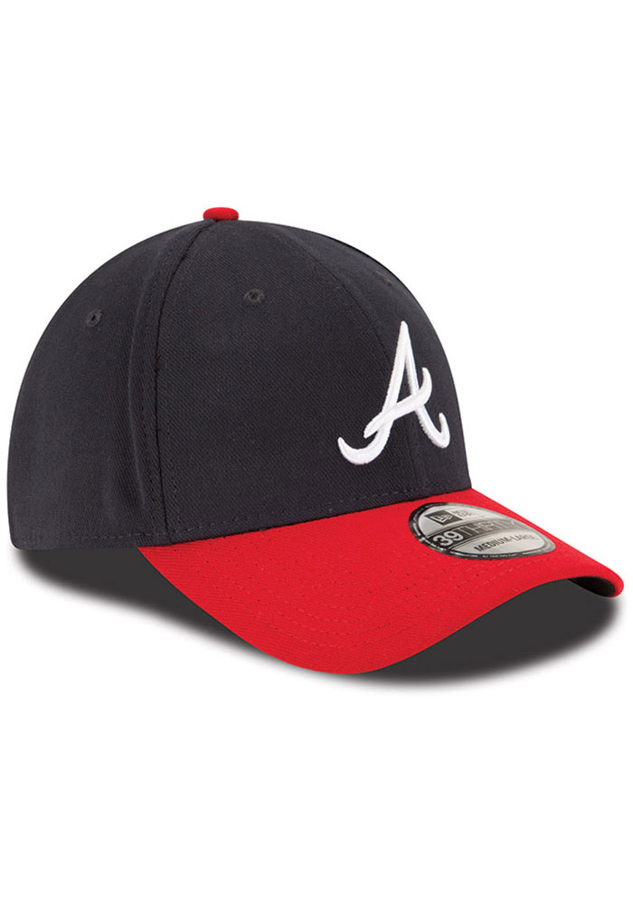 New Era Atlanta Braves Team Classic 39THIRTY Navy//Red Flex Fit Hat//Cap