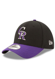 Colorado Rockies New Era Team Classic 39THIRTY Flex Hat - Black