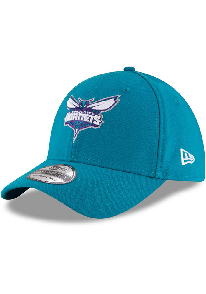 New Era Charlotte Hornets Mens Teal Team Classic 39THIRTY Flex Hat - Image 1