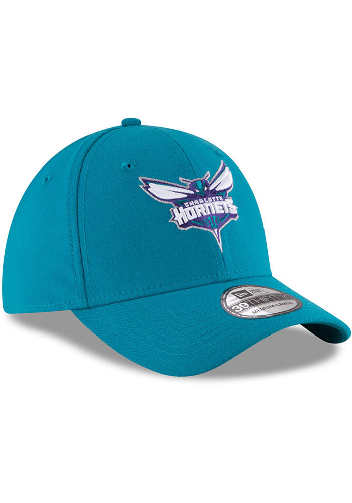 New Era Charlotte Hornets Mens Teal Team Classic 39THIRTY Flex Hat - Image 2