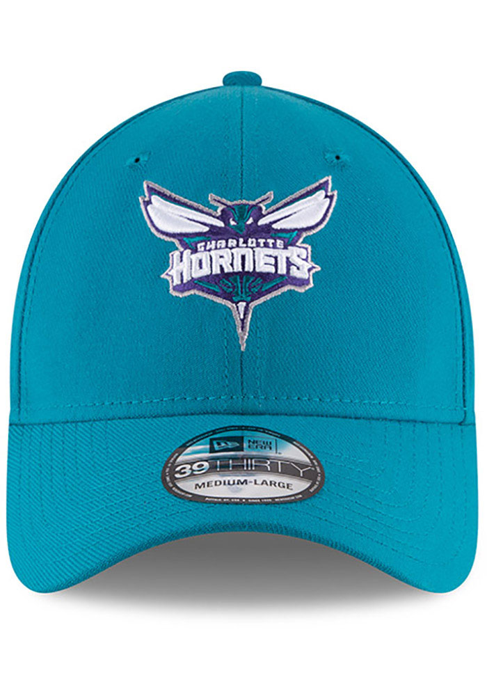 New Era Charlotte Hornets Mens Teal Team Classic 39THIRTY Flex Hat - Image 3