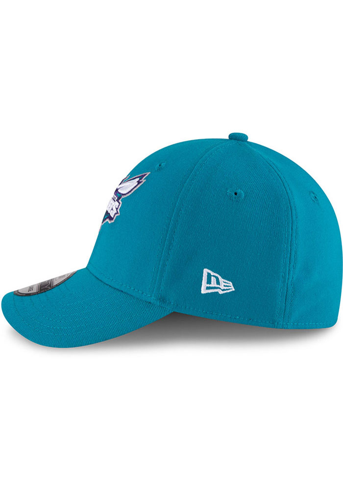 New Era Charlotte Hornets Mens Teal Team Classic 39THIRTY Flex Hat - Image 4