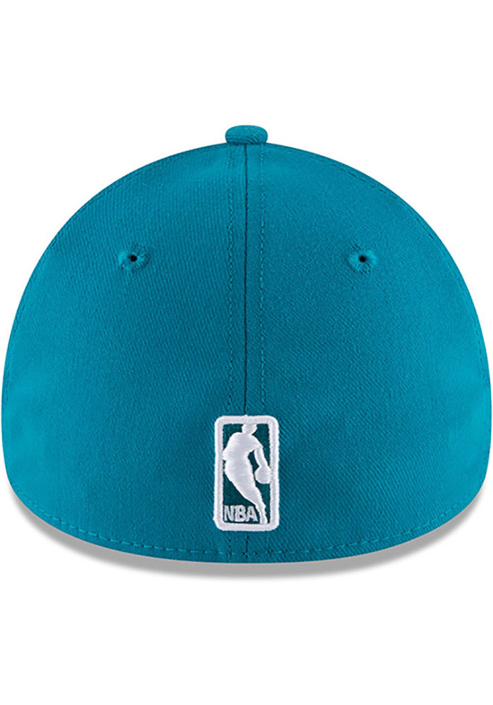 New Era Charlotte Hornets Mens Teal Team Classic 39THIRTY Flex Hat - Image 5