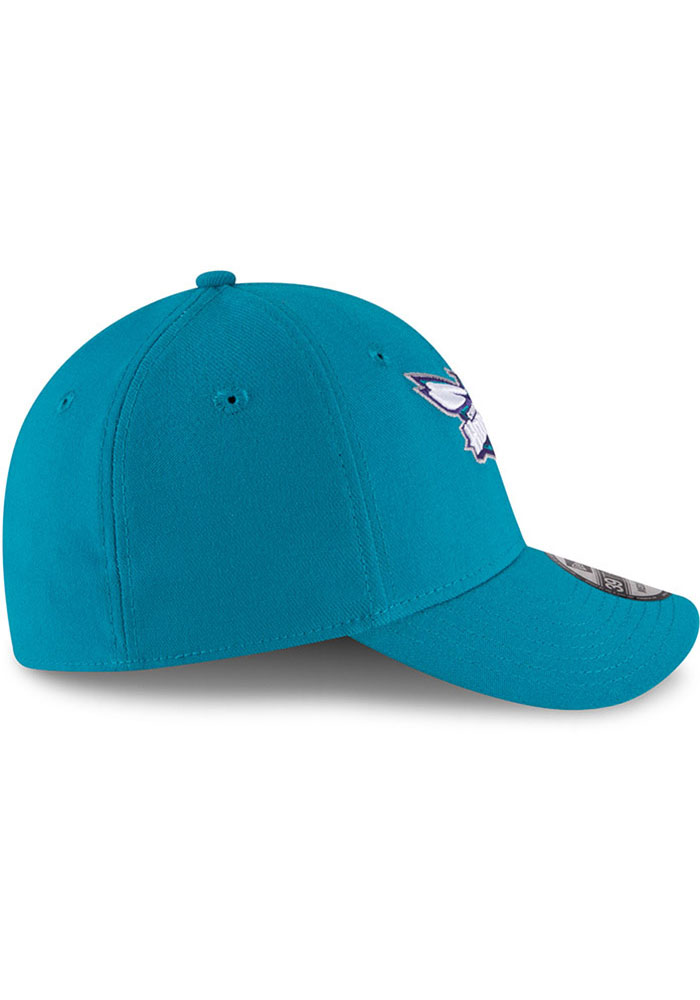 New Era Charlotte Hornets Mens Teal Team Classic 39THIRTY Flex Hat - Image 6
