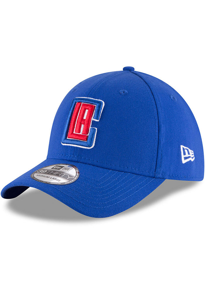 New Era Los Angeles Clippers Mens Blue Team Classic 39THIRTY Flex Hat - Image 1