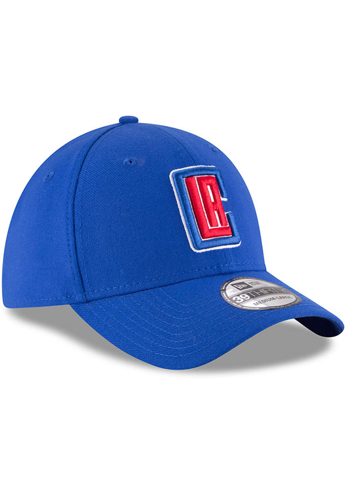 New Era Los Angeles Clippers Mens Blue Team Classic 39THIRTY Flex Hat - Image 2