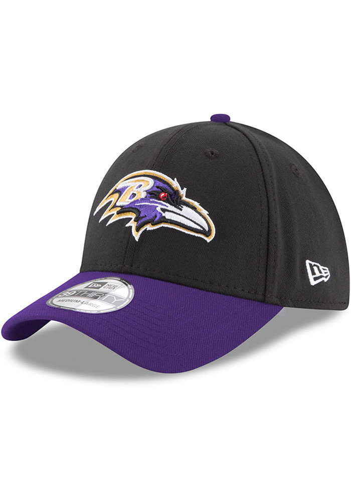 Baltimore Ravens New Era Team Classic 39THIRTY Flex Hat - Black