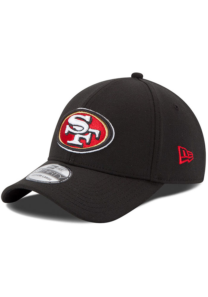 San Francisco 49ers New Era Team Classic 39THIRTY Flex Hat - Black