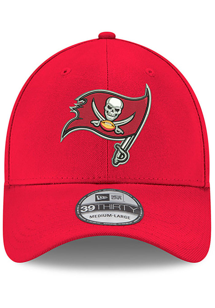 New Era Tampa Bay Buccaneers Mens Red Team Classic 39THIRTY Flex Hat - Image 3