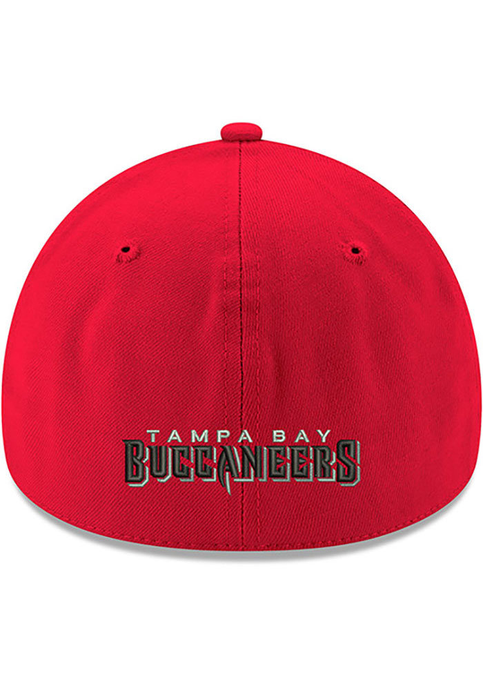 New Era Tampa Bay Buccaneers Mens Red Team Classic 39THIRTY Flex Hat - Image 4