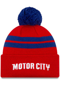 New Era Detroit Pistons Red 2019 City Series Knit Knit Hat