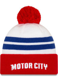 New Era Detroit Pistons White 2019 City Series Holiday Knit Knit Hat
