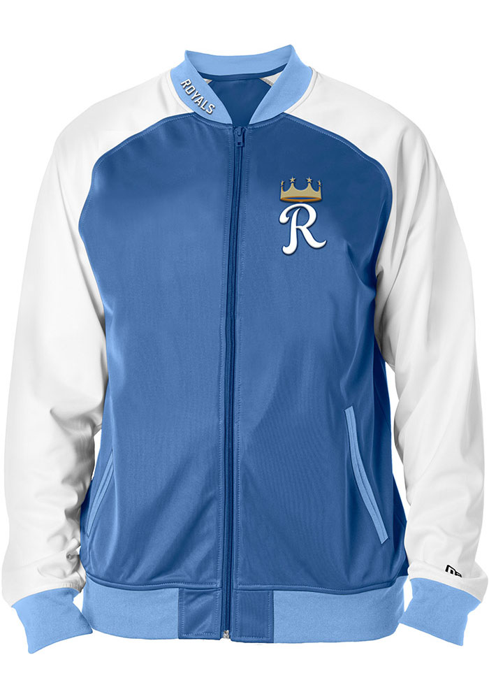 Kansas City Royals New Era Tricot Raglan Track Jacket - Blue