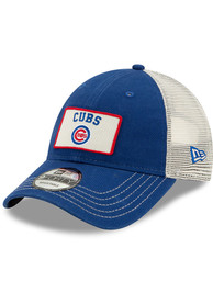 New Era Chicago Cubs Trucker 9FORTY Adjustable Hat - Blue