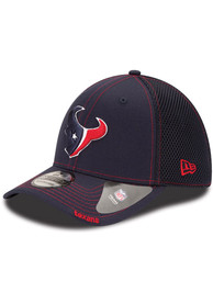 New Era Houston Texans Navy Blue Team Neo 39THIRTY Flex Hat