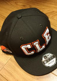 New Era Cleveland Browns Brown Abbreviation 9FIFTY Snapback Hat