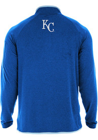 Kansas City Royals New Era Brushed Heather 1/4 Zip Pullover - Blue