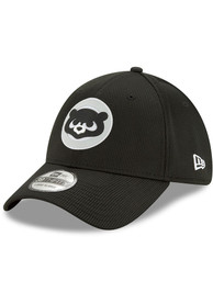 New Era Chicago Cubs Black 2020 Clubhouse 39THIRTY Flex Hat